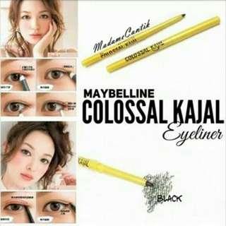 New Maybelline Kolosal Kajal Putar Case Kuning