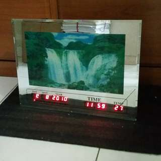 Vintage - Display Table Clock (with Music & Light water-fall Scenery)