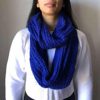 COTTON ON - Blue Circle Scarf