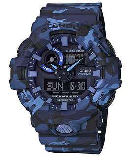 Authentic G-Shock blue camo edition