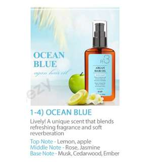 (NEW) RAIP R3 Argan Hair Oil - Ocean Blue 100ml