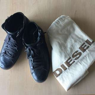 Price drop! Diesel high rise real leather shoes