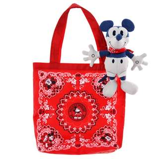 [B2] (1) Last Piece Japan Disneystore Disney store Mickey Mouse Foldable Eco Bag Stuffed Strap