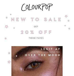 [🌟COLOURPOP PO SALE🌟] 20% SALE FOR SELECTED ITEM