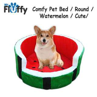 Comfy Pet Bed / Round / Watermelon / Cute