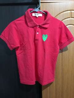 Play CDG Red Poloshirt Unisex Authentic looks New