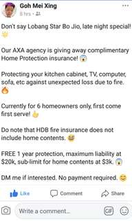 Blessing Free 1 Year Home Protection Insurance 😊