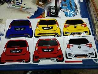 Stiker custom made gambar kereta