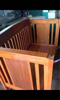 Wooden crib