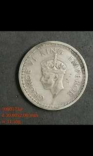 1000273 - 1945年 one 印度盧比