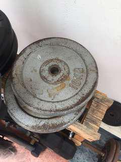 10kg weights (1 pair)