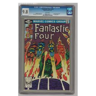 Marvel Comics Fantastic Four #232 Copper Age Key CGC 9.8 White Pages First John Byrne Story & Art Highest Graded