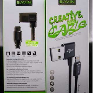 Data Cable/Cord/Charger - BAVIN CB093 (2.4A)1M MICRO 5P+IPHONE7+TYPE-C