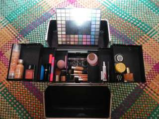 Traincase with preloved makeup