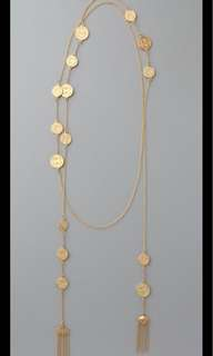 House of Harlow 1960 14KT Gold Tassel Coin Necklace