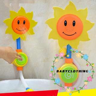 2x Bathing Toys Sunflower Water Flow Spray Shower Head Baby Kids Toddler Bath