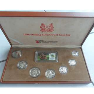 1998 Singapore Silver Proof Coin Set (1¢ - $5 Coin)