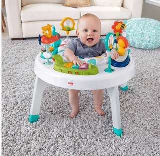 ⭐️Fisher-Price 2-in-1 Sit to Stand Activity Center, Spin 'n Play Safari