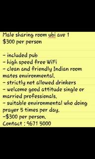 Male sharing room for rent $300 per person Indian prefer.