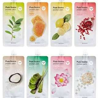 Missha Skin food Masks from Korea