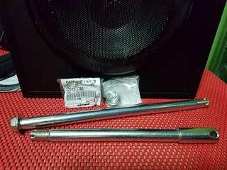 ★KRR150/ZX150/RR150 💯Original RIM Shaft Axle Front + Rear + Castle nut