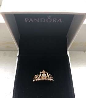 New Rose Gold My Princess Ring Size 5 (50)