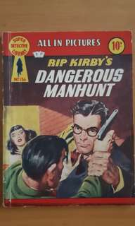 1958 Super Detective Library No 136 (Rip Kirby's Dangerous Manhunt)