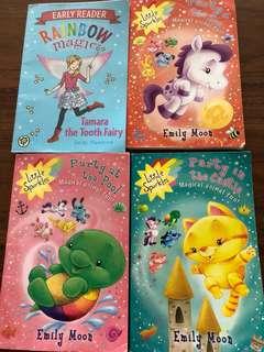 Rainbow magic and little sparkles series.