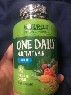Naturelo - One Daily Multivitamin for Men – 120 capsules | 4 month supply