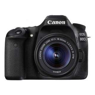 Canon 80D + Kit Lens