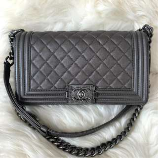 Chanel Old Medium Calfskin Bronze with RHW