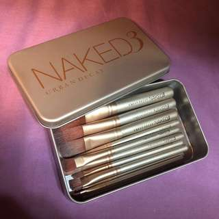 🚚 💗限時特價💗Urban decay Naked3 11件組香檳金刷具組 鐵盒 #美妝半價拉