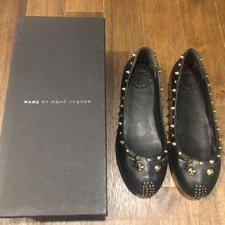 Marc By Marc Jacobs black leather mouse flats for SALE!