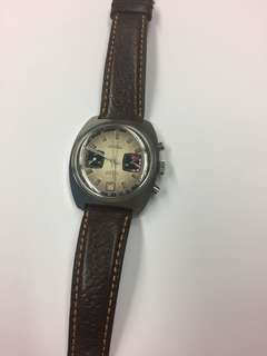 Guinand 鋼上錬日歷計時皮帶表