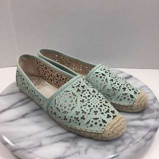 New Vince Camuto Espadrille Leather Slip on Shoes Size 6