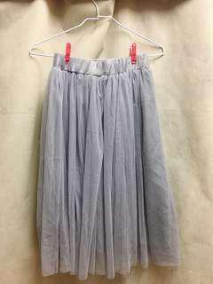 全新✨灰色紗裙