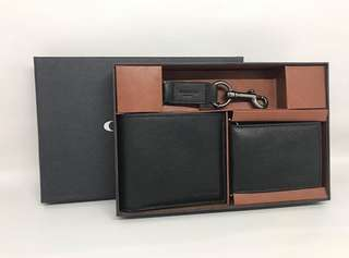 Coach Men Wallet Set with key Fob