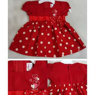 Red Dress for Baby Girl 0 - 6 months Free Postage for WM