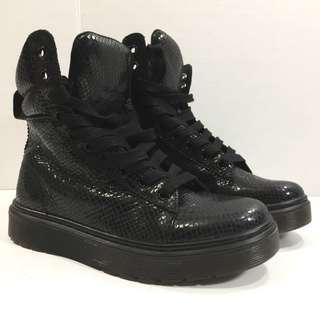New Dr Martens Doc Mix Leather Boots High Top