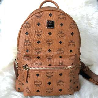 MCM Stark Classic Small Backpack in Classic Brown