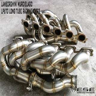 LAMBORGHINI MURCIELAGO L670 LONG TUBE RACE HEADERS