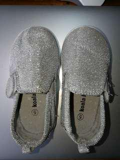 Shimmering Silver Shoes