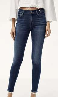 Citizens of humanity COH rocket high rise skinny denim no distress size 25