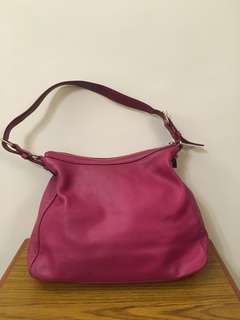 Kate Spade purple leather shoulder bag 正貨真皮