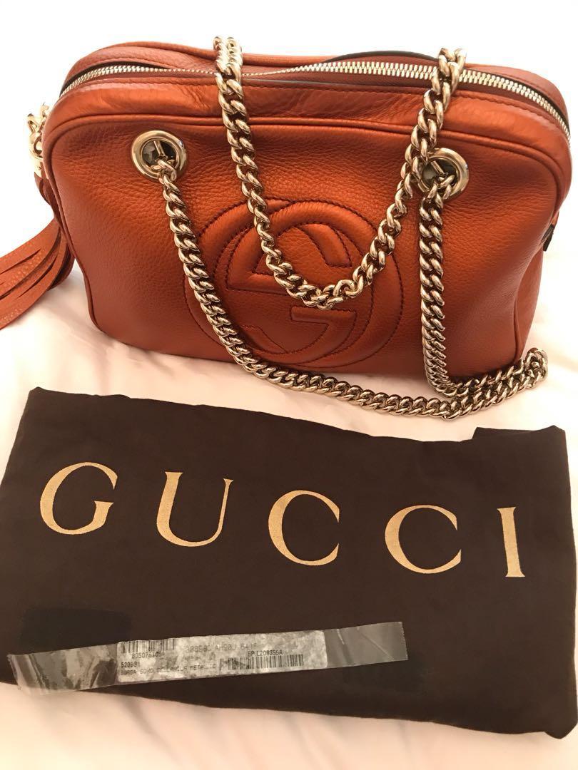 409a5afad6c6 100% Authentic Gucci Handbag, Luxury, Bags & Wallets, Handbags on ...