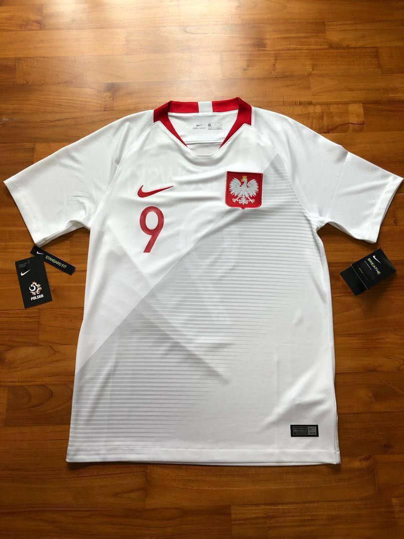 24ca8900f 100% Authentic Poland World Cup 2018 Away Jersey