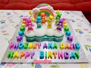 Care bear jelly cake