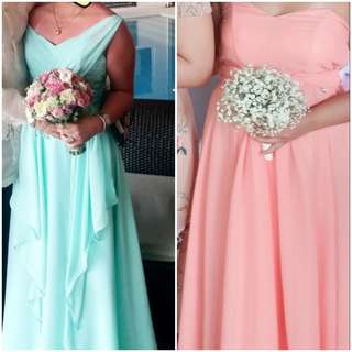 PRELOVED BRIDESMAID GOWN COMBO
