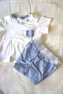 h&m baby's set