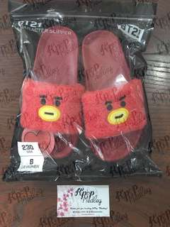 fffdb96963cc (ON HAND) Official BT21 Boucle Character Slippers - Tata Size 6